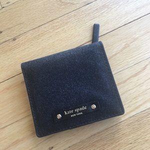 Kate Spade Black Sparkly Bifold Wallet